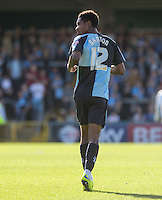 Jason Banton of Wycombe Wanderers during the Sky Bet League 2 match between Wycombe Wanderers and Plymouth Argyle at Adams Park, High Wycombe, England on 12 September 2015. Photo by Andy Rowland.