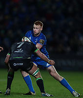 4th January 2020; RDS Arena, Dublin, Leinster, Ireland; Guinness Pro 14 Rugby, Leinster versus Connacht; Paul Boyle (Connacht) tackles Ciaran Frawley (Leinster)  - Editorial Use