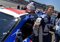 May 6, 2007; Richmond, VA, USA; Nascar Nextel Cup Series driver Scott Riggs (10) during the Jim Stewart 400 at Richmond International Raceway. Mandatory Credit: Mark J. Rebilas