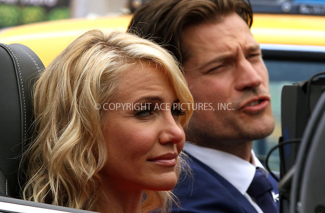 WWW.ACEPIXS.COM<br /> <br /> June 25 2013, New York City<br /> <br /> Cameron Diaz and Nikolaj Coster-Waldau on the set of the new movie 'The Other Woman' on June 25 2013 in New York City<br /> <br /> By Line: Zelig Shaul/ACE Pictures<br /> <br /> <br /> ACE Pictures, Inc.<br /> tel: 646 769 0430<br /> Email: info@acepixs.com<br /> www.acepixs.com