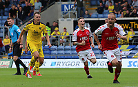 Fleetwood Town's Paddy Madden celebrates scoring his side's second goal from the penalty spot<br /> <br /> Photographer David Shipman/CameraSport<br /> <br /> The EFL Sky Bet League One - Oxford United v Fleetwood Town - Saturday August 11th 2018 - Kassam Stadium - Oxford<br /> <br /> World Copyright &copy; 2018 CameraSport. All rights reserved. 43 Linden Ave. Countesthorpe. Leicester. England. LE8 5PG - Tel: +44 (0) 116 277 4147 - admin@camerasport.com - www.camerasport.com