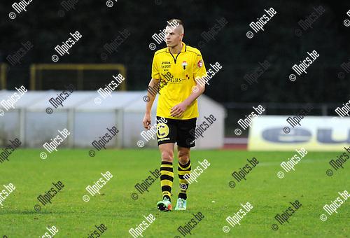 2014-09-06 / Voetbal / seizoen 2014-2015 / KV Turnhout - Berchem Sport / Menco Deryck<br /><br />Foto: Mpics.be