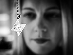 Portrait Shoot with Claire Robertson-Dwyer looking at jewellery