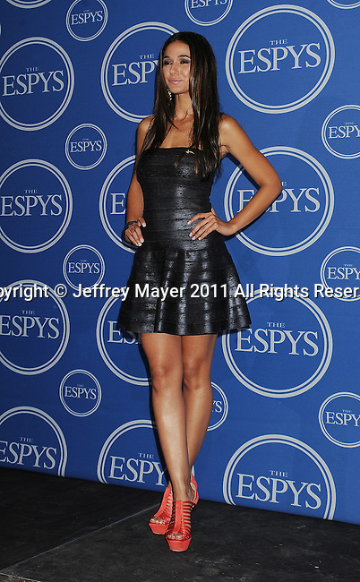 LOS ANGELES, CA - JULY 13: Emmanuelle Chriqui  poses in the press room at The 2011 ESPY Awards at Nokia Theatre L.A. Live on July 13, 2011 in Los Angeles, California.