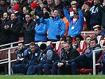 Aston Villa's Paul Lambert looks on dejected as Arsenal score their fifth goal<br /> <br /> Barclays Premier League - Arsenal vs Aston Villa - Emirates Stadium  - England - 1st February 2015 - Picture David Klein/Sportimage