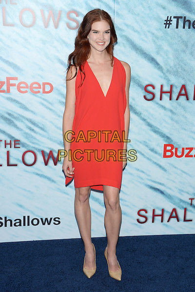 NEW YORK, NY - JUN 21: Emily Tyra attends the World Premiere of &quot;The Shallows&quot; at the AMC Loews Lincoln Square Cinemas on June 21, 2016 in NEW YORK CITY.<br /> CAP/LNC/TOM<br /> &copy;TOM/LNC/Capital Pictures