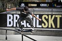 S&Atilde;O BERNARDO,SP,28 - 09 -13 -  3&ordm; ETAPA BRASIL SKATE PRO -durante a  3a etapa do BRASIL SKATE PRO, o Circuito Brasileiro de Street Skate Profissional 2013, acontece entre 27 e 29 de Setembro, no Parque da Juventude Citt&aacute; di Mar&oacute;stica, em S&atilde;o Bernardo do Campo (SP).<br /> Conhecida como a maior pista de Skate da Am&eacute;rica Latina, ser&aacute; a primeira vez que S&atilde;o Bernardo do Campo (SP) receber&aacute; uma etapa do Circuito Brasileiro de Skate Street Profissional, o maior campeonato de Skate Street do continente.(FOTO ALE VIANNA/BRAZIL PHOTO PRESS)