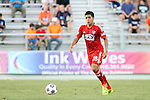 09 July 2014: Dallas' Victor Ulloa. The Carolina RailHawks of the North American Soccer League played FC Dallas of Major League Soccer at WakeMed Stadium in Cary, North Carolina in the quarterfinals of the 2014 Lamar Hunt U.S. Open Cup soccer tournament. FC Dallas won the game 5-2.