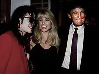 Michael Jackson, Marla Maples, Donald Trumpk 1991<br /> Photo By John Barrett-PHOTOlink.net