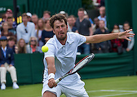 London, England, 27 june, 2016, Tennis, Wimbledon, Robin Haase (NED)  in his match against Diego Schwartzman (ARG)<br /> Photo: Henk Koster/tennisimages.com