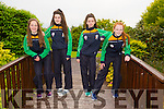 Mary O'Connell Tralee, Orla O'Reilly Tralee, Sophie Lynch Listowel and Clodagh O'Connor Tralee the Athletics Team at the  International Children's Games Press Night at Ballygarry House Hotel on Thursday