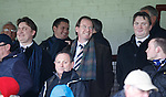 James Easdale, Norman Crighton and Sandy Easdale take in the match in Arbroath