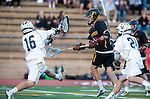 San Diego, CA 05/25/13 - Bryan Cooper (La Costa Canyon #16) and Lucas Gradinger (Torrey Pines #6) in action during the 2013 CIF San Diego Section Open DIvision Boys Lacrosse Championship game.  Torrey Pines defeated La Costa Canyon 7-5.