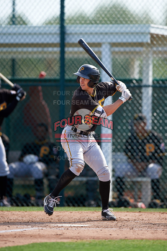 Pittsburgh Pirates Michael Fransoso (35) during a minor league Spring Training intrasquad game on April 3, 2016 at Pirate City in Bradenton, Florida.  (Mike Janes/Four Seam Images)
