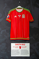 Gareth Bales' 2014/15 Wales home shirt is displayed at The Art of the Wales Shirt Exhibition at St Fagans National Museum of History in Cardiff, Wales, UK. Monday 11 November 2019