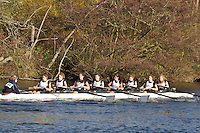 068 .KCH-Barnard .W.J18A.8+ .Kings Sch Chester. Wallingford Head of the River. Sunday 27 November 2011. 4250 metres upstream on the Thames from Moulsford railway bridge to Oxford Universitiy's Fleming Boathouse in Wallingford. Event run by Wallingford Rowing Club..