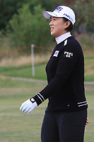 Amy Yang (KOR) on the 1st during Round 3 of the Ricoh Women's British Open at Royal Lytham &amp; St. Annes on Saturday 4th August 2018.<br /> Picture:  Thos Caffrey / Golffile<br /> <br /> All photo usage must carry mandatory copyright credit (&copy; Golffile   Thos Caffrey)