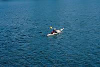 Kayaker in English Bay, Vancouver, BC, Canada