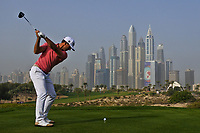 Wade Ormsby (AUS) on the 8th tee during Round 2 of the Omega Dubai Desert Classic, Emirates Golf Club, Dubai,  United Arab Emirates. 25/01/2019<br /> Picture: Golffile | Thos Caffrey<br /> <br /> <br /> All photo usage must carry mandatory copyright credit (© Golffile | Thos Caffrey)