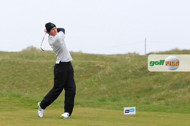 John-Ross Galbraith (Whitehead) on the 4th tee during Round 3 of the Flogas Irish Amateur Open Championship at Royal Dublin on Saturday 7th May 2016.<br /> Picture:  Thos Caffrey / www.golffile.ie