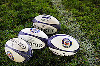 A general view of Bath Rugby balls on the pitch. Aviva Premiership match, between Bath Rugby and Sale Sharks on October 7, 2016 at the Recreation Ground in Bath, England. Photo by: Patrick Khachfe / Onside Images
