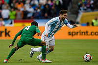 Seattle, WA - Tuesday June 14, 2016: Argentina midfielder Lionel Messi (10) looks for a pass during a Copa America Centenario Group D match between Argentina (ARG) and Bolivia (BOL) at CenturyLink Field