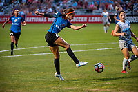 Kansas City, MO - Saturday July 22, 2017: Shea Groom during a regular season National Women's Soccer League (NWSL) match between FC Kansas City and the North Carolina Courage at Children's Mercy Victory Field.
