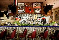 The bar at Taqueria Pedrito in Dallas, Texas, Thursday, September 3, 2009. Taqueria Pedrito was the first taqueria established in Dallas and opened in the 1970s...