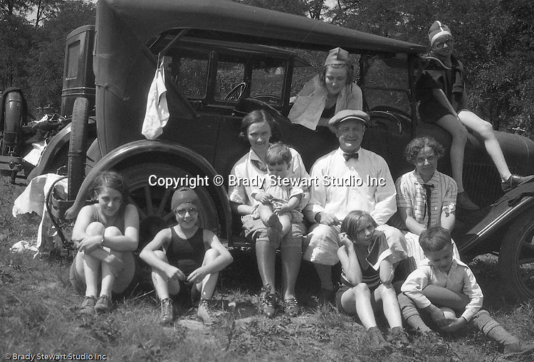 Stewart Township PA:  Stewart's and Brady's camping and swimming at Youghiogheny Lake - 1926.  For over 20 years, Brady Stewart had visited family in Fayette County and vacationed at both Bear Run Creek and Youghiogheny Lake.