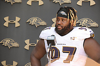 Defensive tackle, Michael Pierce addressed the media following practice on Sunday at training camp in Owings Mills.