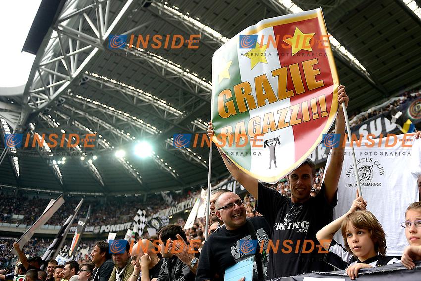 tifosi  Juventus.Torino 05/05/2013 Juventus Stadium.Football Calcio Serie A  2012/13.Juventus vs Palermo.Foto Insidefoto Federico Tardito