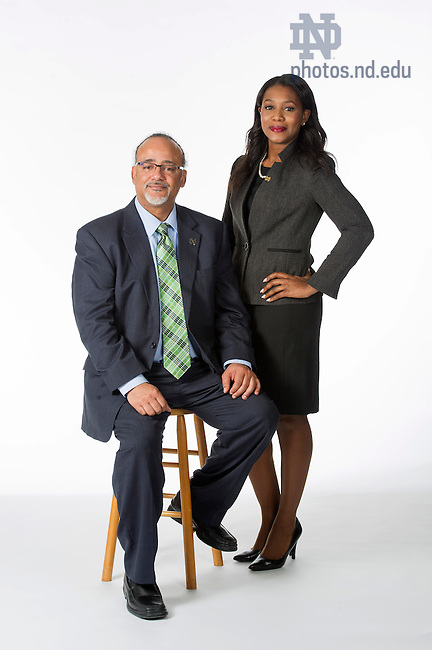 Jan. 15, 2015; ND Works portrait of Eric Love and Karrah Miller from Human Resources. (Photo by Barbara Johnston/University of Notre Dame)