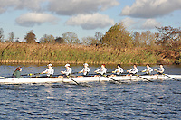045 .KCH-Crowe .J18A.8+ .Kings Sch Chester. Wallingford Head of the River. Sunday 27 November 2011. 4250 metres upstream on the Thames from Moulsford railway bridge to Oxford Universitiy's Fleming Boathouse in Wallingford. Event run by Wallingford Rowing Club..