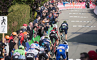 later winner Alejandro Valverde with his decisive move in the final 150m<br /> <br /> 81st Fl&egrave;che Wallonne 2017 (1.UWT)<br /> 1day race: Binche &gt; Huy 200,5KM