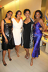 "Actress Sally Stewart, Guiding Light Yvonne Wright & Kim Brockington, Adriane Lenox - Tony Winner 2007 for ""Doubt"" at The Innaugural Celebration of Color on Broadway Awards were held on June 8, 2011 at SAKS Fifth Avenue, New York City, New York. The event was held upstairs where beautiful shoes are sold and where a part of the sales this night will benefit OPUS 118 Harlem's School of Music. (Photo by Sue Coflin/Max Photos)"