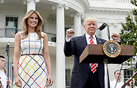 United States President Donald J. Trump and First Lady Melania Trump host the Congressional Picnic on the South Lawn  of the White House in Washington, DC, on June 22, 2017. <br /> Credit: Olivier Douliery - Pool via CNP /MediaPunch