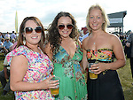 Dearbhla Shanahan, Louise Kavanagh and Hannah Martin pictured at Bellewstown races. Photo:Colin Bell/pressphotos.ie