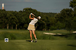 STILLWATER, OK - MAY 21: Jennifer Kupcho of Wake Forest tees off during the Division I Women's Golf Individual Championship held at the Karsten Creek Golf Club on May 21, 2018 in Stillwater, Oklahoma. (Photo by Shane Bevel/NCAA Photos via Getty Images)