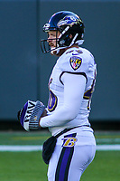 Baltimore Ravens long snapper Morgan Cox (46) during a National Football League game against the Green Bay Packers on November 19th, 2017 at Lambeau Field in Green Bay, Wisconsin. Baltimore defeated Green Bay 23-0. (Brad Krause/Krause Sports Photography)