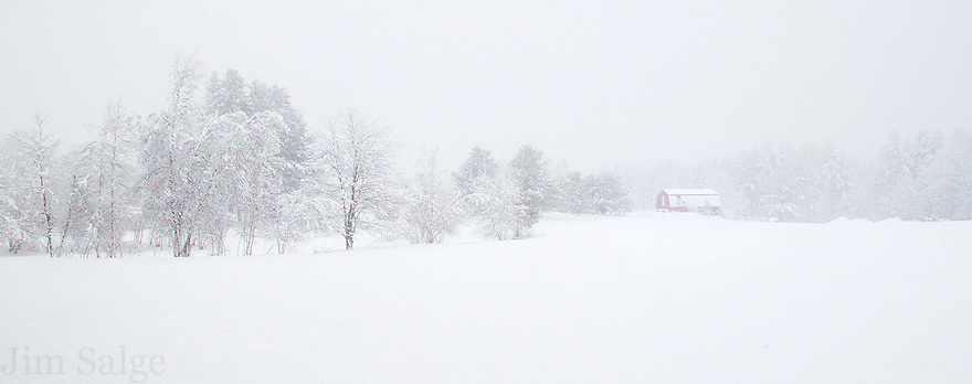 Snowfall in Nottingham, NH