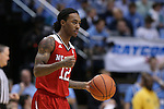 24 February 2015: NC State's Anthony (Cat) Barber. The University of North Carolina Tar Heels played the North Carolina State University Wolfpack in an NCAA Division I Men's basketball game at the Dean E. Smith Center in Chapel Hill, North Carolina. NC State won the game 58-46.