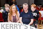 The Horgan family attending the Tralee Rugby Six Nations table Quiz night in the Ashe Hotel on Friday night lastL-r Aodhan, Ann Marie, Colm and Donnacha Horgan from Ballyheigue.