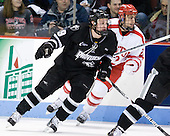 Derek Army (PC - 19), Ross Gaudet (BU - 22) - The Boston University Terriers defeated the visiting Providence College Friars 6-1 on Friday, January 20, 2012, at Agganis Arena in Boston, Massachusetts.