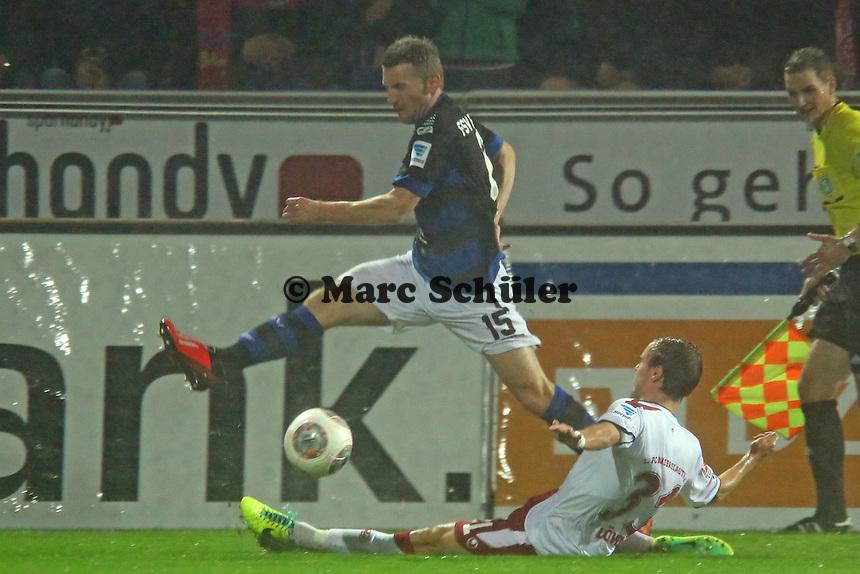 Alexander Huber (FSV) gegen Chris Löwe (FCK) - FSV Frankfurt vs. 1. FC Kaiserslautern, Frankfurter Volksbank Stadion