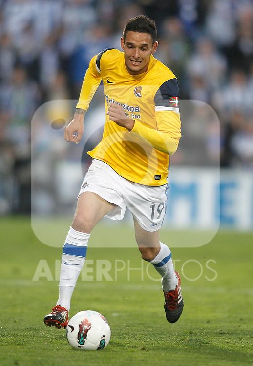 Real Sociedad's Liassine Cadamuro during La Liga Match. March 17, 2012. (ALTERPHOTOS/Alvaro Hernandez)