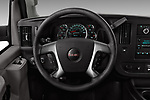 Car pictures of steering wheel view of a 2017 GMC Savana-Passenger 3500-LS-Ext 5 Door Passenger Van Steering Wheel