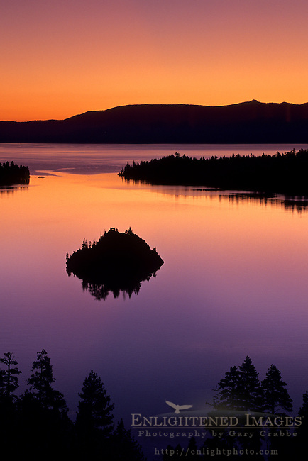 Emerald Bay at sunrise, Lake Tahoe, California