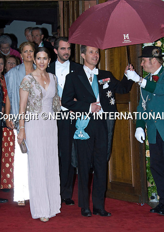 "CROWN PRINCE FREDERIK AND  CROWN PRINCESS MARY OF DENMARK.attend the wedding of Princess Nathalie of Sayn-Wittgenstein-Berleburg and Alexander Johannsmann,Bad Berleburg, Germany_18/06/2011.Mandatory Credit Photo: ©FRANCIS DIAS-NEWSPIX INTERNATIONAL..**ALL FEES PAYABLE TO: ""NEWSPIX INTERNATIONAL""**..IMMEDIATE CONFIRMATION OF USAGE REQUIRED:.Newspix International, 31 Chinnery Hill, Bishop's Stortford, ENGLAND CM23 3PS.Tel:+441279 324672  ; Fax: +441279656877.Mobile:  07775681153.e-mail: info@newspixinternational.co.uk"