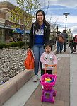Maribel and two-year old Cecilia during the Easter Egg Hunt at Legends in Sparks, Nevada on Saturday, April 20, 2019.