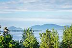 View of Cadillac Mountain over Sullivan Harbor in Sullivan, Maine, USA